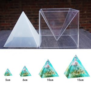 molde silicona piramide resina yeso jabon cera joyeria