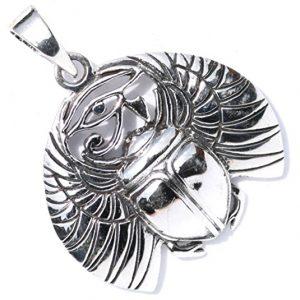 colgante amuleto escarabajo egipcio