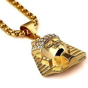 colgante faraón chapado oro 18k