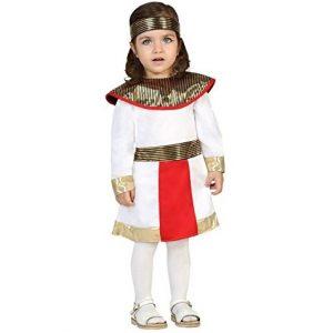 disfraz bebe egipcia chica blanco rojo