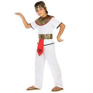 disfraz chico egipcio blanco rojo oro