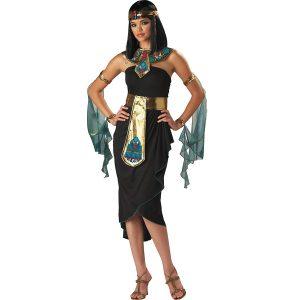 disfraz egipcia Cleopatra negro dorado azul