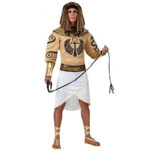 disfraz egipcio blanco dorado