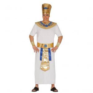 disfraz egipcio blanco dorado azul