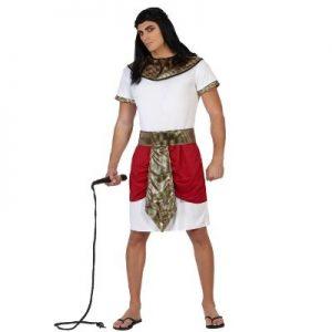 disfraz egipcio blanco rojo dorado