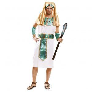 disfraz egipcio blanco verde dorado