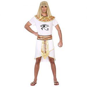 disfraz egipcio dorado blanco