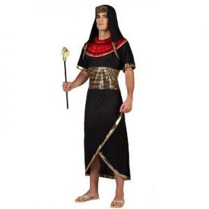 disfraz egipcio negro dorado rojo