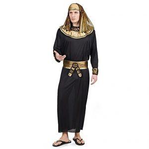 disfraz egipcio Ramsés negro dorado