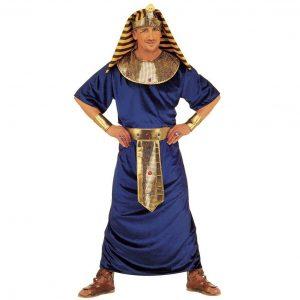 disfraz egipcio Tutankamón azul dorado negro