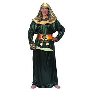 disfraz egipcio verde dorado