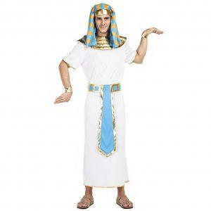 disfraz faraón egipcio blanco dorado