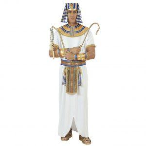 disfraz faraón egipcio blanco dorado azul
