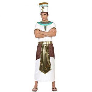 disfraz faraón egipcio blanco dorado turquesa