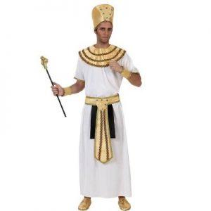 disfraz rey egipcio blanco dorado