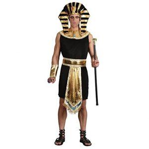 disfraz rey egipcio negro dorado