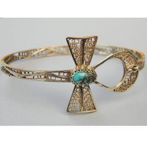 pulsera Ankh con turquesa egipcia