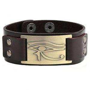 pulsera cuero ojo Horus ajustable