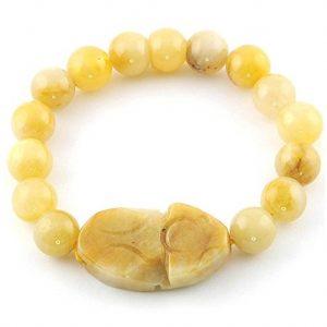 pulsera perlas escarabajo egipcio