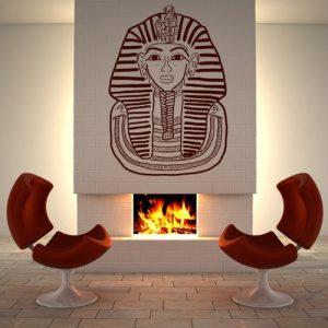 vinilo faraón Tutankamón egipcio cuarto chimenea