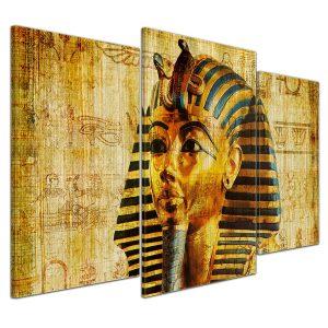cuadro en lienzo faraón 3 partes