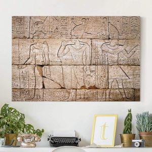 cuadro mural representaciones egipcias