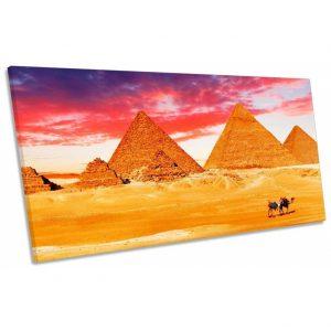 lienzo egipcio desierto con pirámides