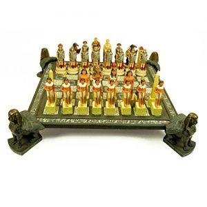 ajedrez egipcio figuras y tablero