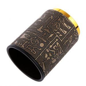 cubilete dados dorado jeroglíficos egipcios