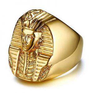 anillo faraon dorado
