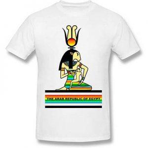 camiseta mural egipcio manga corta