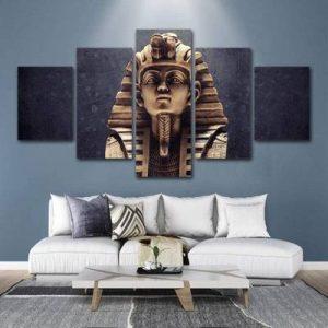 cuadro 5 paneles tutankamon