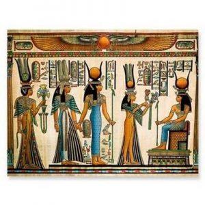 cuadro mural egipcio