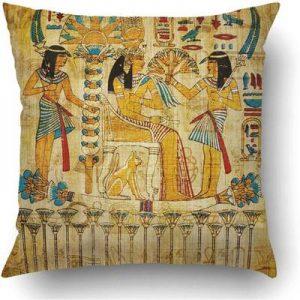 funda cojin entiguo papiro egipcio