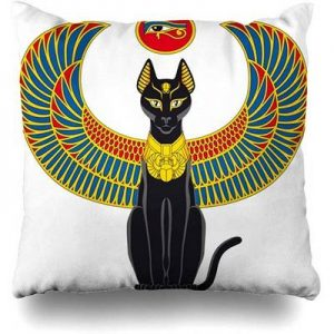 funda cojin gato egipcio