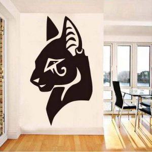 vinilo pared gato egipcio